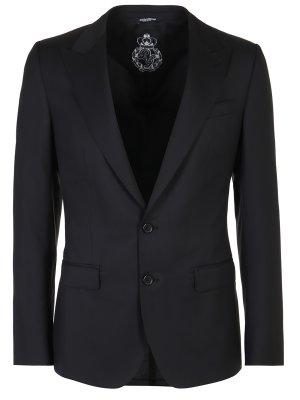 Пиджак из шерсти и шелка DOLCE & GABBANA