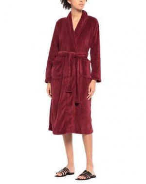 Домашние и банные халаты FEMILET. Цвет: красно-коричневый
