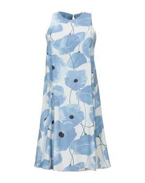 Короткое платье ALPHA STUDIO. Цвет: лазурный