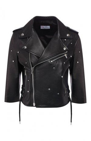 Кожаная куртка REDVALENTINO. Цвет: черный