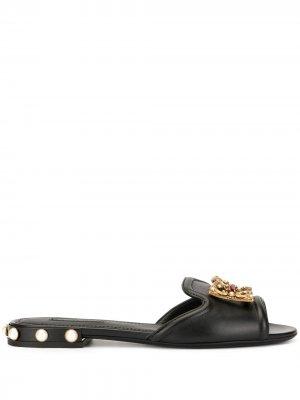 Сандалии DG Amore Dolce & Gabbana. Цвет: черный