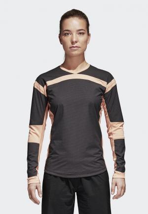 Лонгслив спортивный adidas W Agrav Hyb LS. Цвет: серый