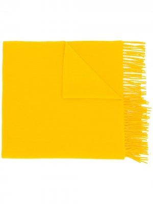 Шарф с бахромой J.Lindeberg. Цвет: желтый
