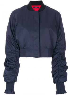Укороченная куртка-бомбер Ellery. Цвет: синий
