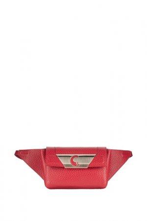 Поясная сумка Carlo Salvatelli. Цвет: красный