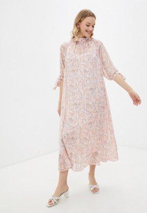 Платье и комбинация Forus. Цвет: розовый