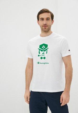 Футболка Champion LEGACY Crewneck T-Shirt. Цвет: белый