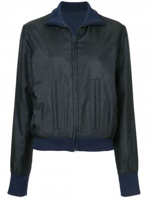 Куртка-бомбер с вышивкой сзади Yohji Yamamoto Pre-Owned. Цвет: синий