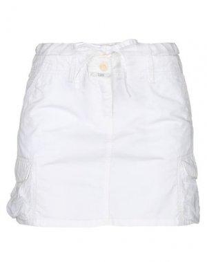 Мини-юбка CLOSED. Цвет: белый