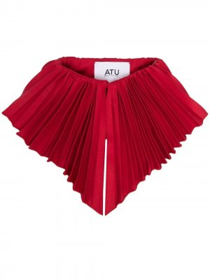 Плиссированный воротник Atu Body Couture. Цвет: красный