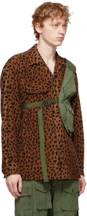 Khaki Shoulder Vest Bag Engineered Garments. Цвет: zt076 olive