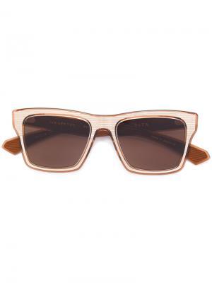 Солнцезащитные очки с квадратной оправой Dita Eyewear. Цвет: металлический
