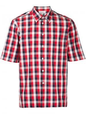 Рубашка с короткими рукавами узором в клетку гингем Ck Calvin Klein. Цвет: красный