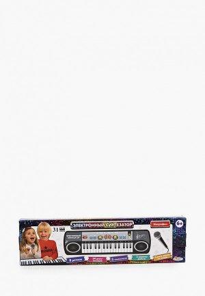 Игрушка интерактивная Играем Вместе музыкальная Синтезатор. Цвет: разноцветный