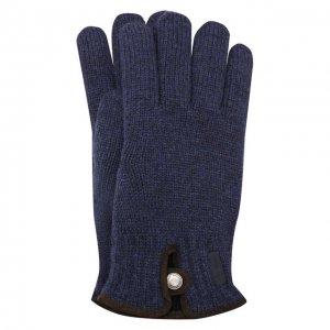 Шерстяные перчатки Paul&Shark. Цвет: синий
