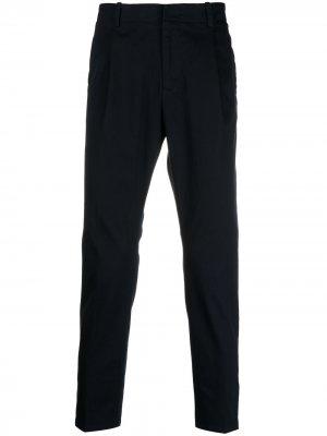 Прямые брюки строгого кроя Daniele Alessandrini. Цвет: синий
