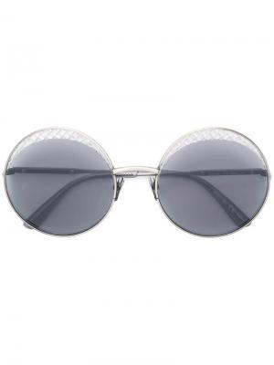 Солнцезащитные очки в стиле оверсайз Bottega Veneta Eyewear. Цвет: золотистый