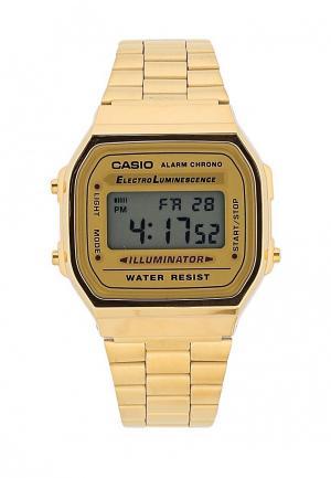 Часы Casio Collection A-168WG-9. Цвет: золотой