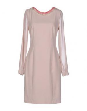 Короткое платье ANNARITA N. Цвет: песочный