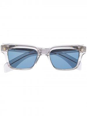 Солнцезащитные очки в прозрачной оправе Jacques Marie Mage. Цвет: серый
