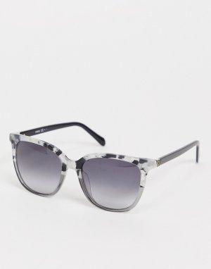 Солнцезащитные очки с квадратными стеклами 2094/G/S-Черный цвет Fossil
