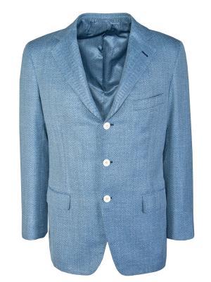 Шертяной пиджак ANDREA CAMPAGNA. Цвет: серый