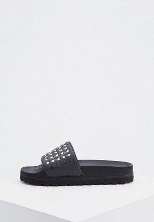Сланцы Versace Jeans Couture. Цвет: черный