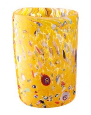 Стакан WAVE MURANO GLASS. Цвет: желтый
