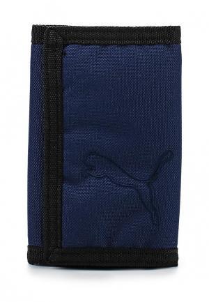 Кошелек Puma Buzz Wallet new navy. Цвет: синий