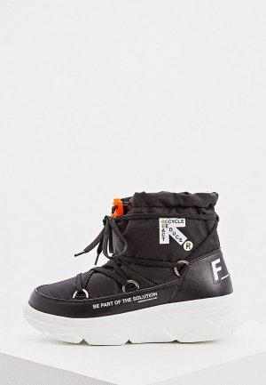 Дутики F_WD. Цвет: черный