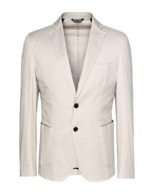 Пиджак 8 by YOOX. Цвет: голубиный серый