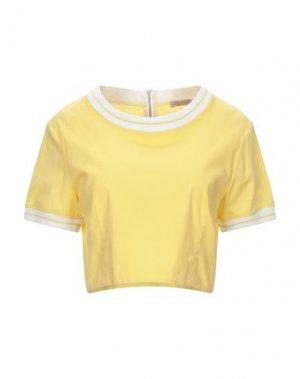 Блузка PLEASE. Цвет: желтый