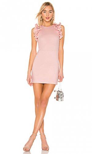 Платье ridgely Amanda Uprichard. Цвет: розовый