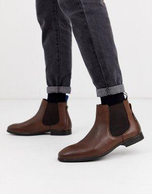 Коричневые кожаные ботинки челси -Коричневый Ben Sherman