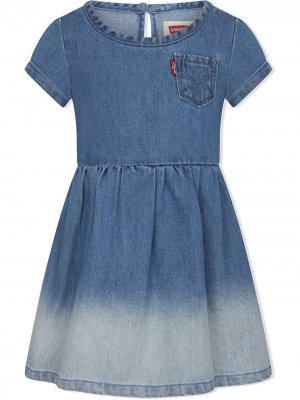 Levis Kids джинсовое платье ампирного силуэта Levi's. Цвет: синий