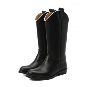 Кожаные сапоги Gallucci. Цвет: чёрный