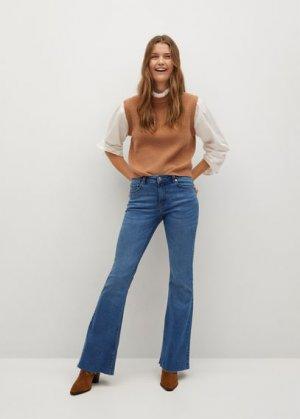 Расклешенные джинсы Flare - Mango. Цвет: синий средний