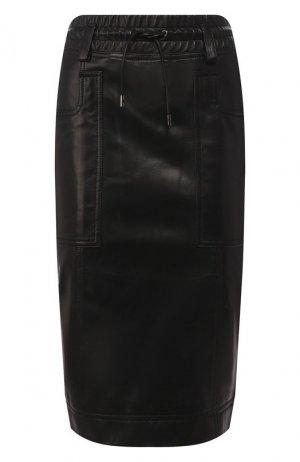 Кожаная юбка Tom Ford. Цвет: черный
