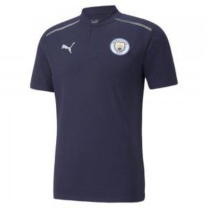 Поло Man City Casuals Mens Football Polo Shirt PUMA. Цвет: синий