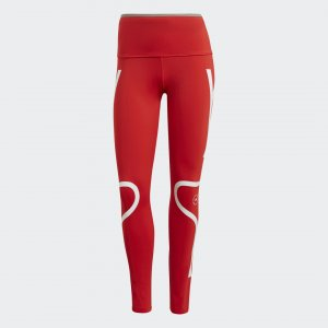 Леггинсы для бега by Stella McCartney adidas. Цвет: красный