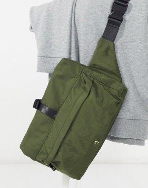 Сумка-кошелек с откидным верхом цвета хаки Weatherall-Зеленый цвет Farah