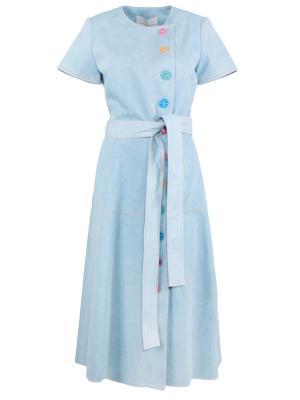 Джинсовое платье Carolina Herrera. Цвет: голубой