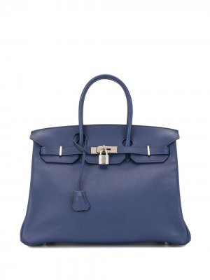 Сумка Birkin 35 2018-го года Hermès. Цвет: синий