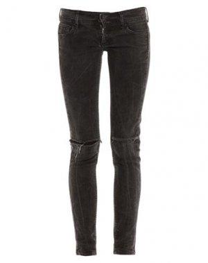 Джинсовые брюки MANGO. Цвет: черный