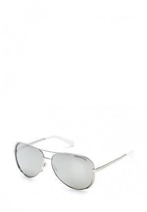 Очки солнцезащитные Michael Kors MI186DWPBU32. Цвет: серебряный