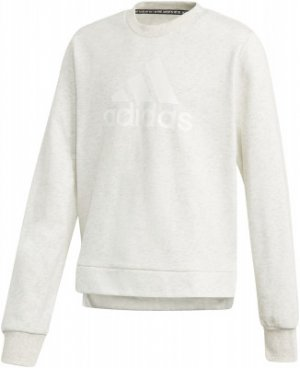 Свитшот для девочек adidas, размер 170 Adidas. Цвет: белый