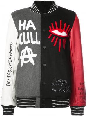 Skribble varsity jacket Haculla. Цвет: чёрный