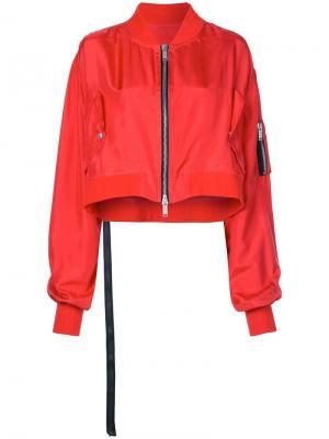 Укороченная куртка-бомбер Unravel Project. Цвет: красный