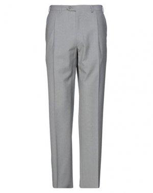 Повседневные брюки BRIONI. Цвет: серый