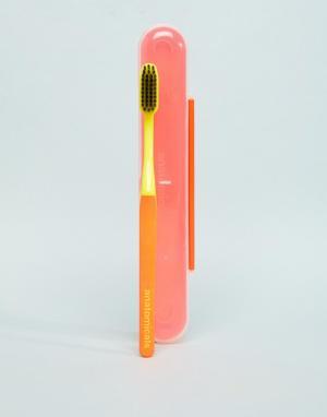 Оранжевая зубная щетка с древесным углем -Бесцветный Anatomicals